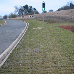 Reinforcing a grass verge